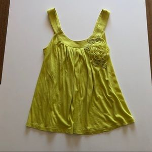 Chartreuse Baby Doll Tank